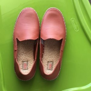 Ugg Salmon Leather Fleece Lined Moccasin